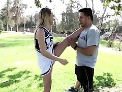 Hot Carmen instructs rookie cheerleader