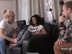 Skint fellow lets ultra-kinky buddy to plow his ex-gf for dollars