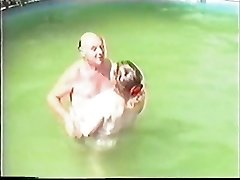 Mature couple having Sex in The Pool Part 1 Wear Tweed