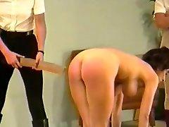 2 dommes spank & strap buxom girl (Part Trio)