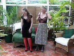 Vintage Village Girls Summer Stripping Fun