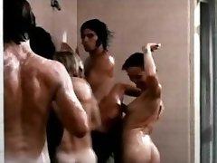 David Hasselhoff bare in shower orgy