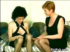 Horny old sluts fingering and handballing part6