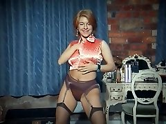 QUEER - vintage thick bumpers strip dance tease in stockings
