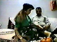 Vintage arab amateur couple make rigid homemad