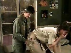Jamie Summers, Kim Angeli, Tom Byron in old-school fuck-fest scene