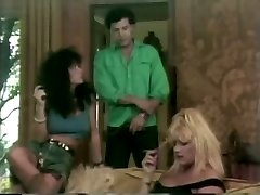 Blonde and brown-haired retro bitches get smashed hard