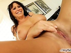 Mandy lose some weight and is looking very hot. She makes her way to MILFThing in a black obession dress. This episode is historic from avid fisting to double vaginal  squirting and more