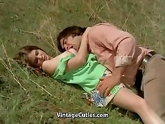 Chap Tries to Seduce teen in Meadow (1970s Vintage)