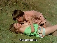 Fellow Tries to Seduce teen in Meadow (1970s Vintage)