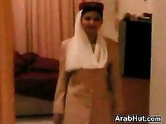 Pretty Arab Stewardess Giving A Oral