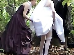 A jewel among voyeur vids with a bride pissing in the woods