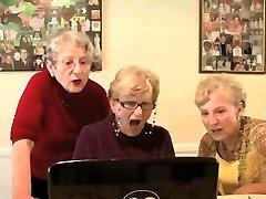 Grannys watch fucky-fucky tape - very funny