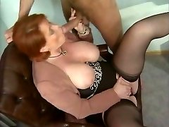 Kira Red - German Mature ravaged in the Office
