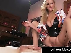 Boy Fucktoy Gets Smothered By Glamorous Milf Julia Ann's Twat!