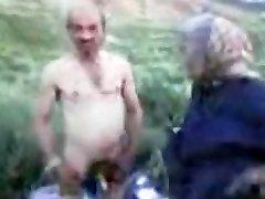 Granddad and Grandmother Outdoor
