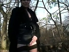 Mature Brigitte gang-fucked in a woods