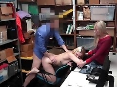 Shoplyfter - Youthfull Stepdaughter Fucks Cop To Save Mom