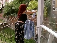Magnificent Mature Wife Attacked While Dangling Laundry - Cireman