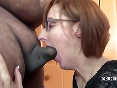 Horny housewife Layla Redd is deepthroating a dude she just met