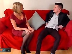 AgedLove Nice blond grannie is fucked by horny man