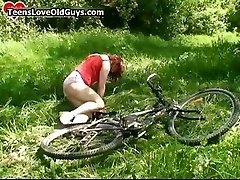Hurt teen chick gets helped part6