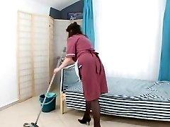 boy fuck unshaved mature maid