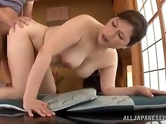 Mature Japanese Babe Uses Her Pussy To Please Her Boy