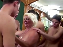 Granny Rims 5 junior Boys to Cum