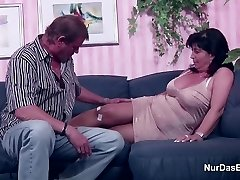 German Mom and Dad in Pornography Casting for less Cash