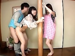 Subtitled Japanese risky intercourse with voluptuous mummy in law