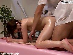 Japanese Girl Gets Body Massage Fuckfest