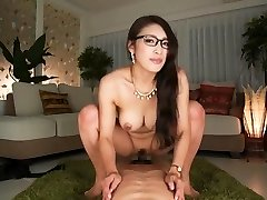 What's her name? Asian secretary rides and takes internal cumshot