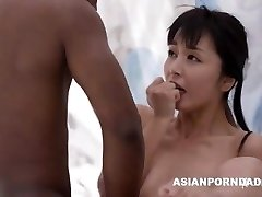 Asian fuck by two black boners - ASIANPORNDADD