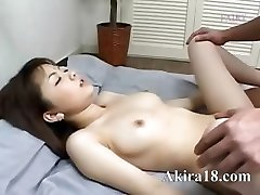 Japanese guy licking super hairy pussy