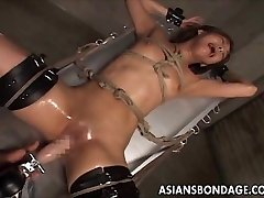 Asian bondage fucking machine