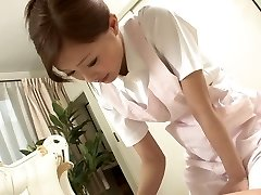 Cool Nurse jerks her patient's cock as a approach