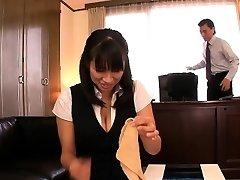 Chinese mature Hana Haruna spanked on desk