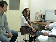 Medical examination with hot Japanese vixen being fucked by hung therapist