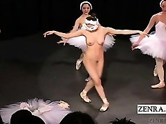 Subtitled Chinese CMNF ballerina recital strips bare