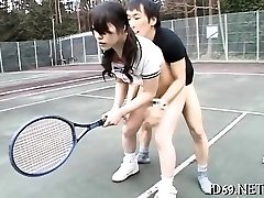 Sweet-looking asian honey spreads legs and acquires finger-banged