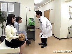 Ginormous boobed Japanese teenager Aimi Irie in medical adventure