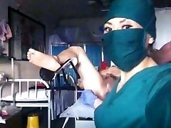 Asian nurse fisting