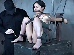 Pretty Asian stunner Milcah Halili is disciplined with vibrator and anal beads