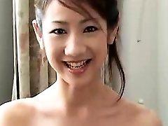 Sexy Japanese girlfriend blowjob and rock hard