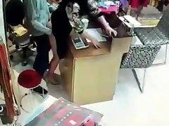 Asian fuking in shop