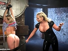 Dahlia Sky and Phoenix Marie return to Whipped Ass! Phoenix is pissed that the new starlet didn't even consider Phoenix as her top in her first full feature all about her. Dahlia choose some other porn slut and Phoenix wants revenge and we let her have it here on Whipped Ass! Humiliation, face spitting, spanking, flogging, bondage, foot worship, strap-on sex with anal are all included!