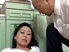 Senior Japanese mom Craves son's ally Dick (Censored)