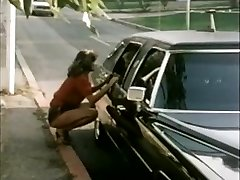 Woman hitchhiker gets limo rail