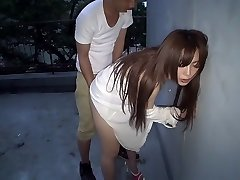 Best Chinese mega-slut Megu Hazuki in Exotic rear end style, outdoor JAV movie